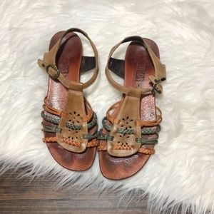 Pikolinos Alcudia ankle strap leather sandals